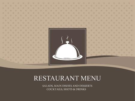 menu de postres: Vector. El dise�o del men� del restaurante