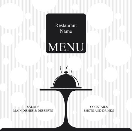 Vector. Restaurant menu design. Two colors  Vector