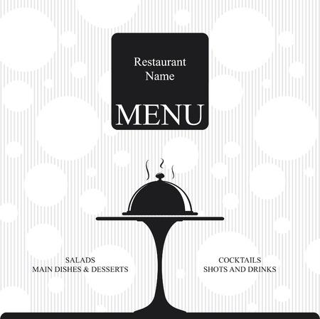 paper plates: Vector. Restaurant menu design. Two colors