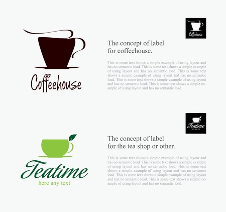 Label set for restaurant, cafe, bar, coffeehouse  Vector