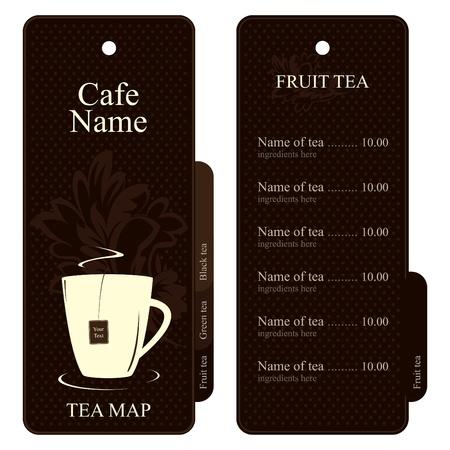 Vector. Tea map (menu). Full design concept  Stock Vector - 11659377