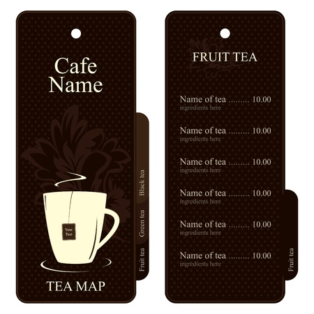 Vector. Tea map (menu). Full design concept Stock Vector - 11659377