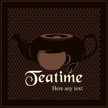 Vector. Design teatime menu for cafes and restaurants  Stock Vector - 11659365