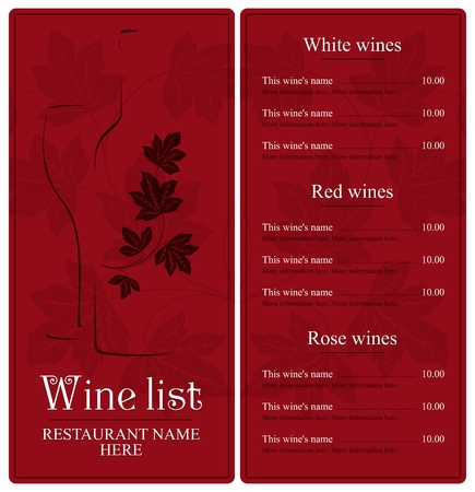 Wine list design  Stock Vector - 11659337