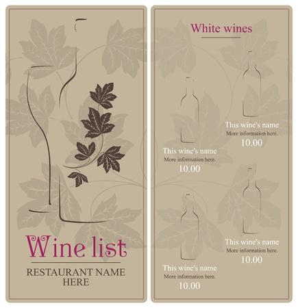 clip art wine: Wine list design