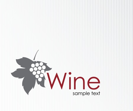 grapes wine: Wine label design