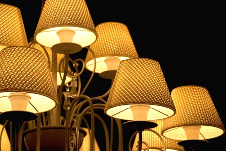 Elements of vintage chandelier, closeup  photo