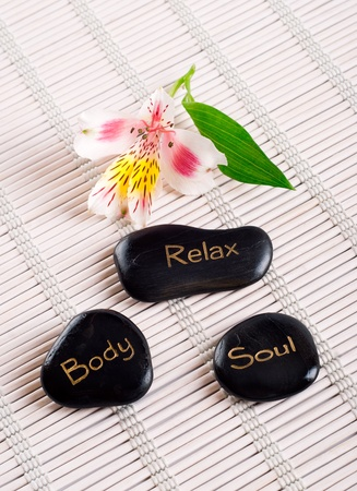 alternative therapies: Spa series, zen stones