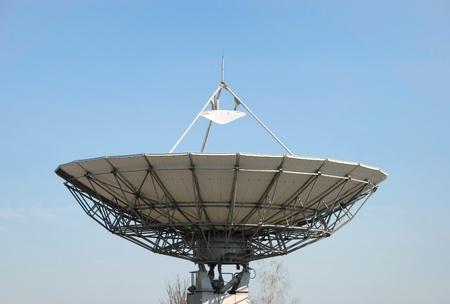 electromagnetic radiation: Satellite dishes  Stock Photo
