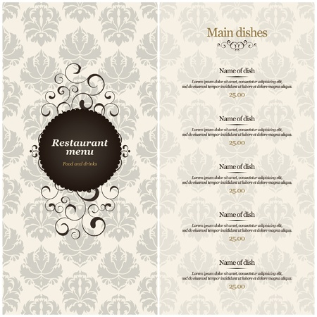 Vector. Restaurant menu design Stock Vector - 11657652