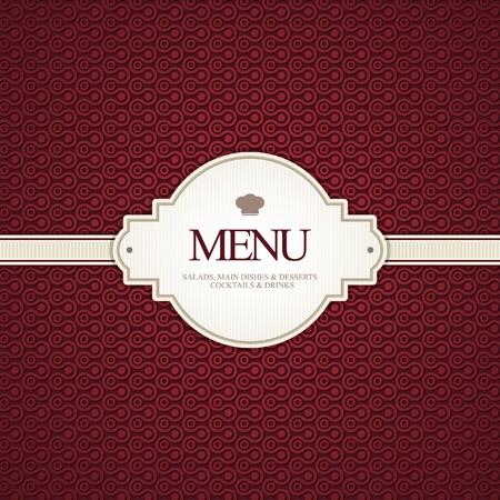 디자인: 벡터. 레스토랑 메뉴 디자인 일러스트