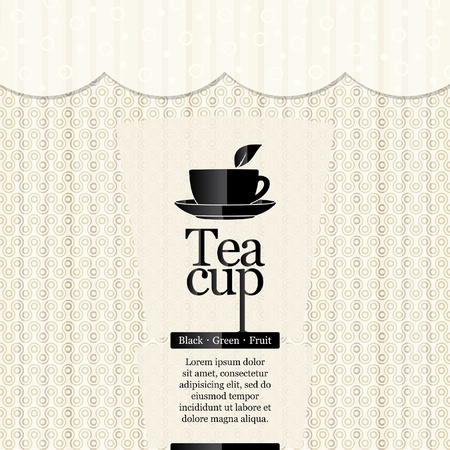 Tea time. Restaurant menu design Vector