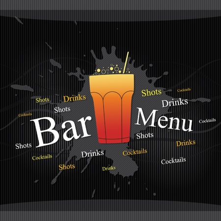 bar menu: Vector. Bar menu design Illustration