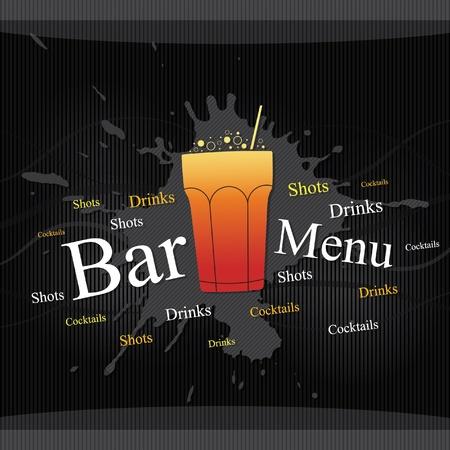 menu card design: Vector. Bar menu design Illustration