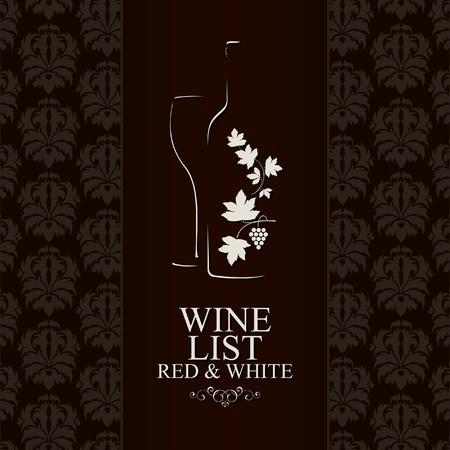Wine list design Stock Vector - 11657638