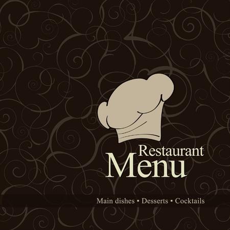 chapeau chef: Vecteur. La conception du menu des restaurants Illustration