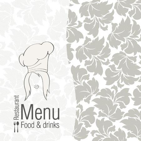 menu template: Vector. Restaurant menu design