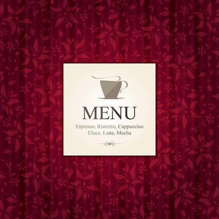 Cafe, decorative menu, concept design Vector