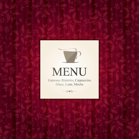 Cafe, decorative menu, concept design Vector