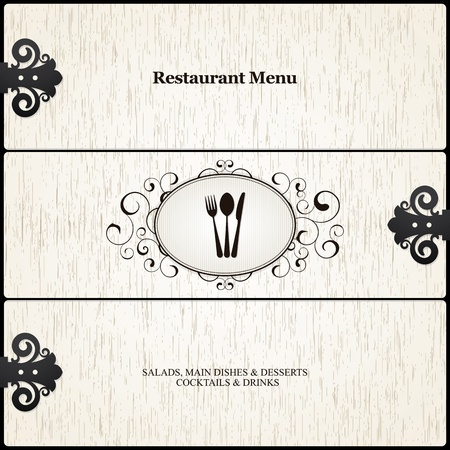 cafe bar: Restaurant menuontwerp