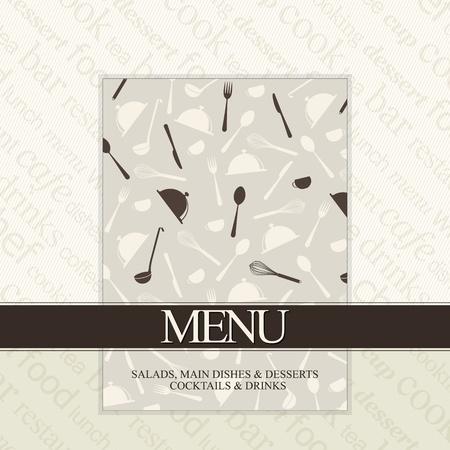 fork knife: Restaurant menu design