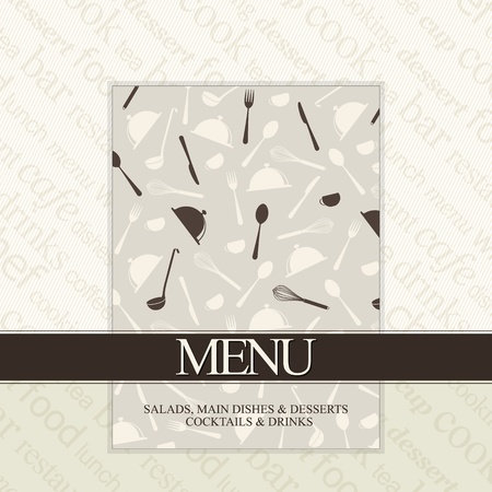 spoon and fork: Restaurant menu design