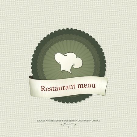 chefs cooking: Restaurant menu design