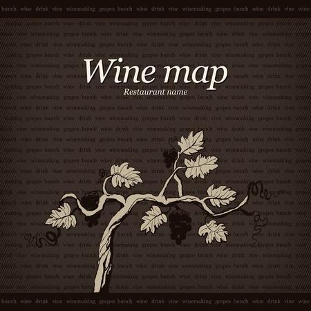 Wijn kaart ontwerp Vector Illustratie
