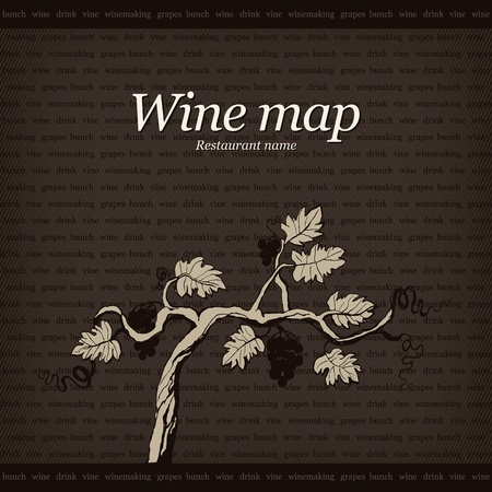 Wine map design Vector