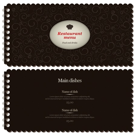 Restaurant or cafe menu design Vector