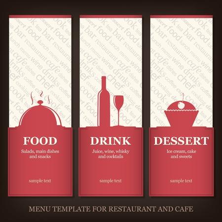 Menü Vorlage für Restaurant und Café Vektorgrafik