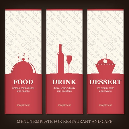 Menu template for restaurant and cafe Vector
