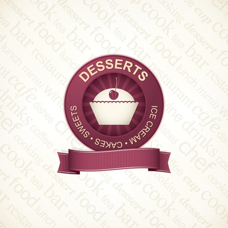 cream paper: Food and beverages, label series - 3