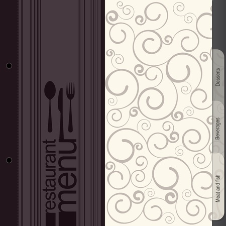 chef illustration: Restaurant menu design