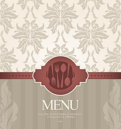 meny: Restaurang meny design med sömlös bakgrund