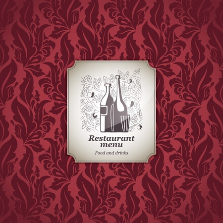 Restaurant menu design, with seamless background Vector