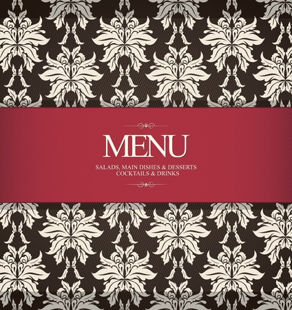 cover menu: Restaurant menu design, with seamless background