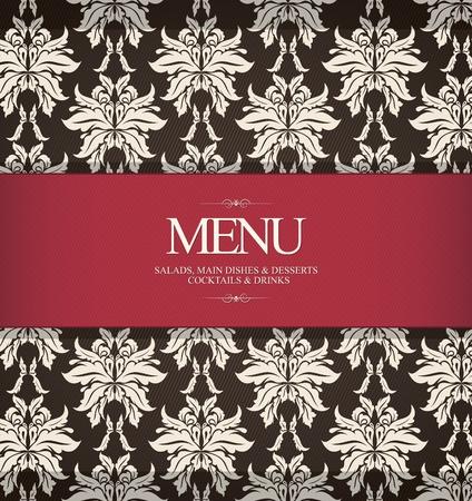 tarjeta de presentacion: Restaurante de dise�o del men�, con el fondo transparente Vectores