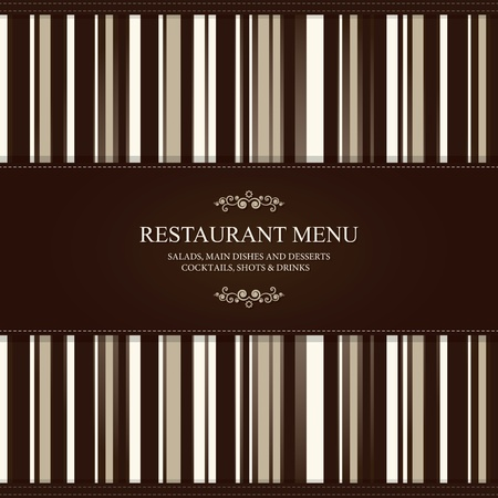 cover menu: Restaurant menu design