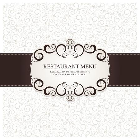 menu de postres: Restaurante de dise�o del men�, con el fondo transparente Vectores