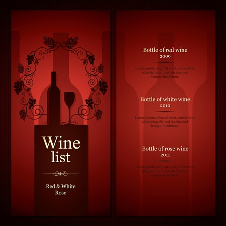Wine list design Stock Vector - 12486715