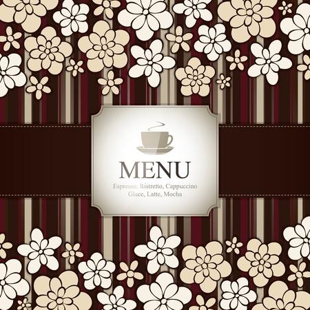 menu card design: Menu for restaurant, cafe, bar, coffeehouse