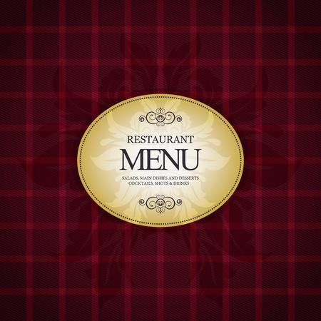 fond restaurant: La conception du menu restaurant, avec un fond � carreaux tendance