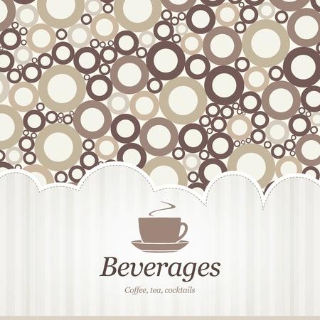 menu de postres: Men� para restaurante, cafeter�a, bar, cafeter�a Vectores