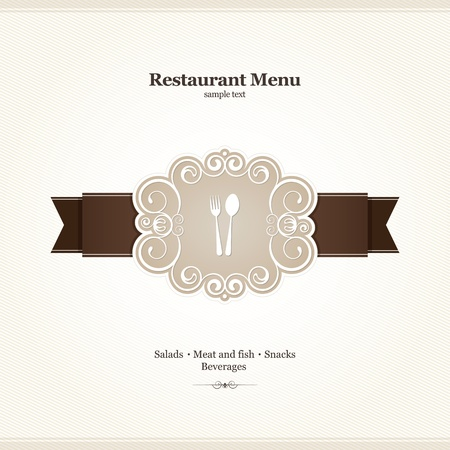 cover menu: Menu for restaurant, cafe, bar, coffeehouse