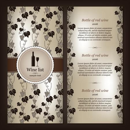 elenchi: Carta dei vini di progettazione