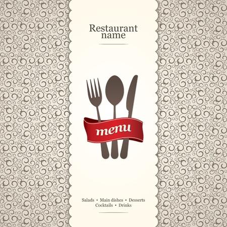 Menu pour le restaurant, café, bar, café