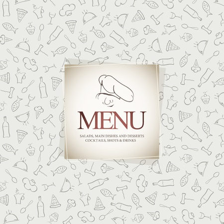 Menu for restaurant, cafe, bar, coffeehouse Stock Vector - 12833964