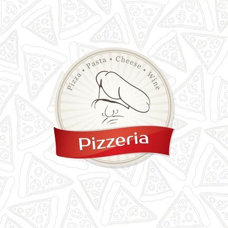 pizzeria label: Men� de dise�o pizzer�a Vectores