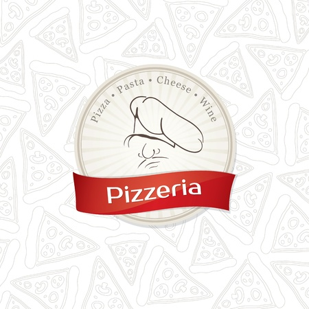 pizzeria label: Menu design pizzeria Illustration